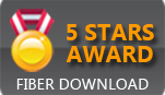 Five stars award Fiber Download